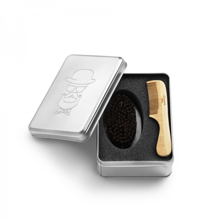Pánská souprava BARBER KIT - comb & brush