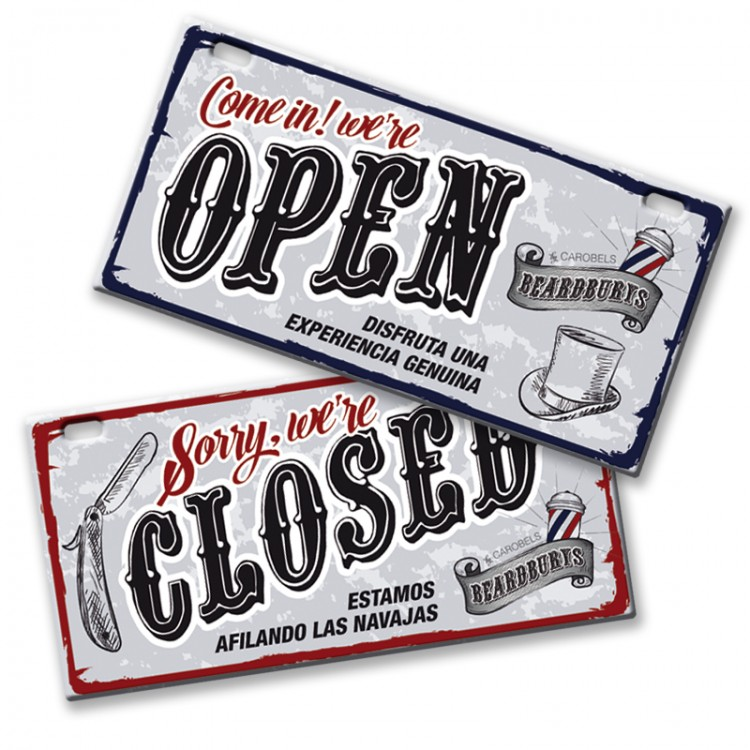 Cedule OPEN / CLOSED Beardburys 0499136