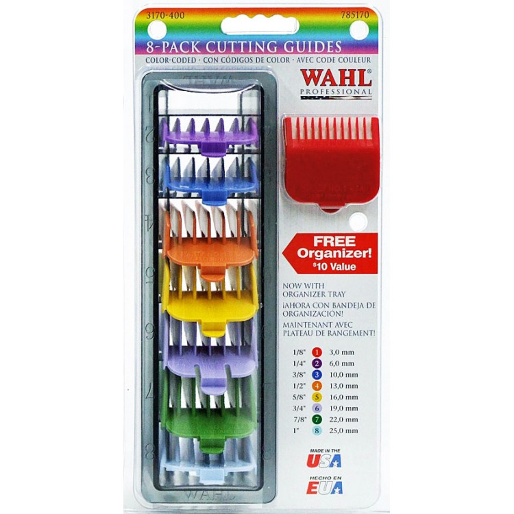 Přídavné hřebeny WAHL 03170-417 Color (4503-7171) - Set 8 ks