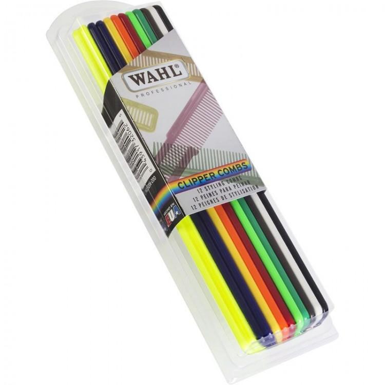 Kadeřnické hřebeny WAHL 03206-200 -střihací - Set 12 ks