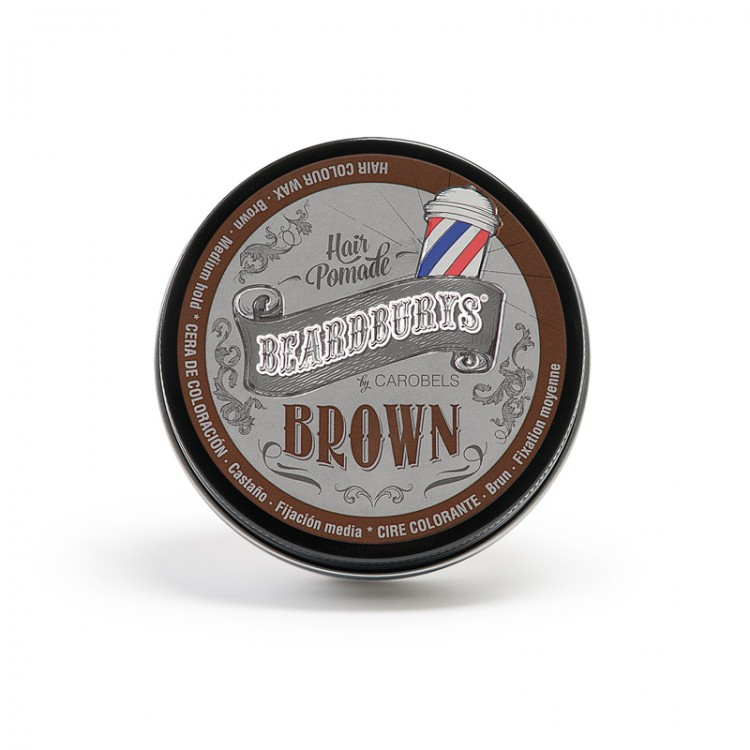 BEARDBURYS Color Brown - pomáda na vlasy - 100 ml