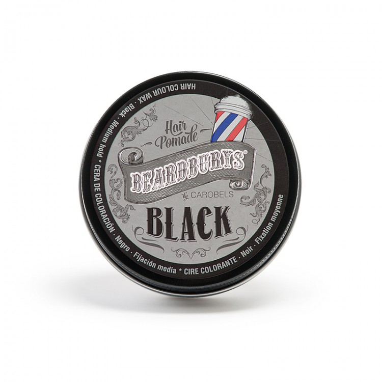 BEARDBURYS Color Black - pomáda na vlasy - 100 ml