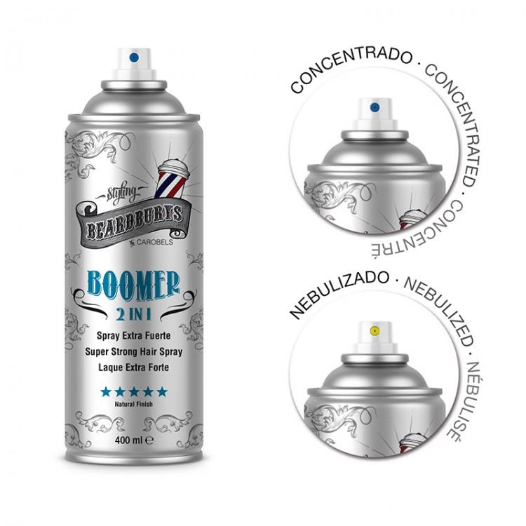 Fixační sprej na vlasy BEARDBURYS Boomer 2v1 - 400 ml.