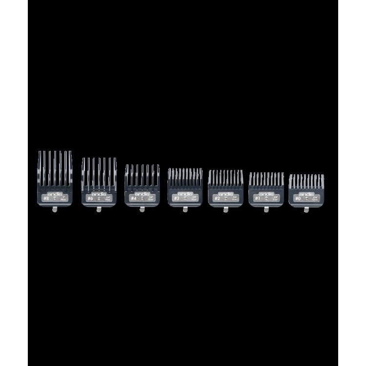 Přídavné hřebeny ANDIS 33645 Master Premium - Set 7 ks