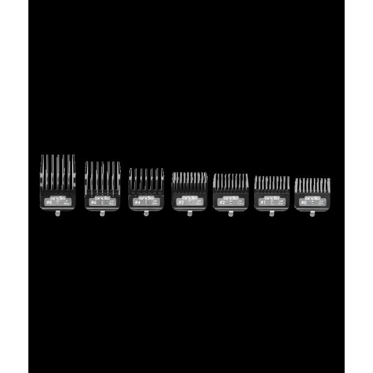 Přídavné hřebeny ANDIS 33640 BG/MBG Premium - Set 7 ks