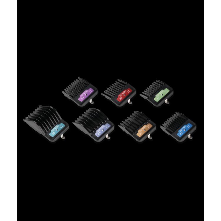 Přídavné hřebeny ANDIS 33655 AG Color - Set 7 ks