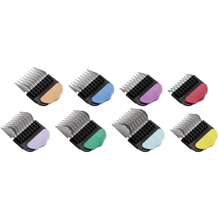 Univerzální přídavné hřebeny ANDIS 24585 magnetické Color - Set 8 ks